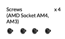 Screws (AMD Socket AM4, AM3)